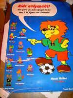 1. FC Figaro Werbeposter / Werbeplakat / Poster kaschiert 97cm x 68cm!