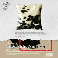 NEW COWHIDE LEATHER​ CUSHION COVER RUG COWHIDE HA​IRON PILLOW COVER CUSHION: 01