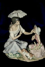 Lladro #6910 As Pretty As A Flower Brand New In Box Mother Daughter Save$ F/Sh