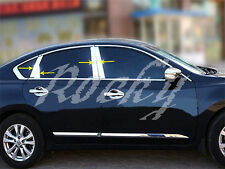 Fit For 2013+ Nissan Altima Chrome Stainless Steel Window B C Pillar Cover Trim