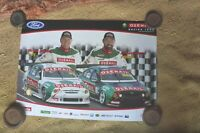 JONES & BOWE FORD OZEMAIL RACING TEAM POSTER SUPERCARS V8 EARLY 2000'S