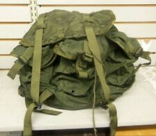 Vintage Us Army Surplus Ruck Field Pack Military Combat Green Nylon Medium