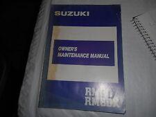 1987 Suzuki RM80 RM80X Owner's Maintenance Manual 99011-02B21-03A