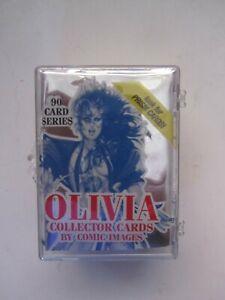 OLIVIA DE BERARDINIS 1992 COMPLETE SET VINTAGE PIN-UP COLLECTOR CARDS