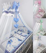 Bettset Baby 8-9 tlg Bettwäsche Nestchen Himmelstange  120x60 Traumer
