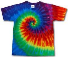 SWIRL RAINBOW COLOR TYE DYED TEE SHIRT men women SIZE XL hippie dye SWIRL #106