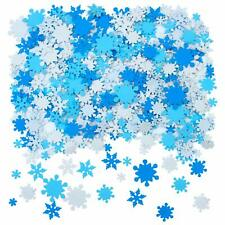 Aneco 600 Pieces Foam Snowflake Stickers Self-Adhesive Snowflake Shape Stickers