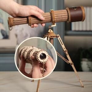DIY Wooden Telescope Assembly Toy Science Learning Building Kits DIY Gift