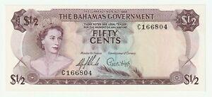 Bahamas 1965 1/2 dollar P.17a (UNC-)