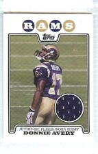 DONNIE AVERY 2008 TOPPS ROOKIE RC JERSEY #RPR-DA PLAYER WORN ST. LOUIS RAMS