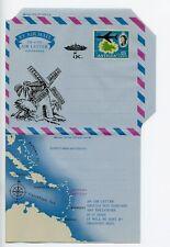 Antigua postal stationery aerogramme air letter unused (V402)