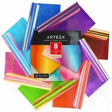 "ARTEZA Self Adhesive Vinyl, Holographic, Red & Pink Tones, 12"" x 12"" - Set of 8"