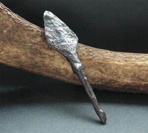 A genuine ancient Viking iron arrowhead.