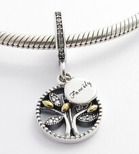 FAMILY TREE DANGLE CHARM Bead Sterling Silver.925 For European Bracelets 612