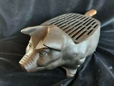 Cast Iron Pig Piggy Hibachi Tabletop Charcoal Barbecue Grill