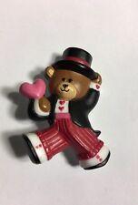Hallmark Cards Valentine Bear W/ Heart  Pin Brooch Jewelry Ab-45