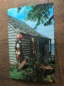 Maine Vacationland Fishing Shack Scene Maine ME Postcard