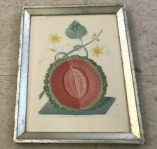 ANTIQUE GEORGE BROOKSHAW MELON PRINT FROM BORGHESE MUSEUM ORIGINAL FRAME