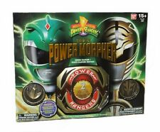 Mighty Morphin Power Rangers Legacy Green & White Morpher  Factory Sealed New