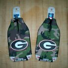 2-Pack University Georgia Bulldogs Camo Camouflage Bottle Coolies Covers Koozies