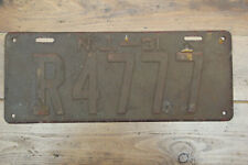 American license plate New Jersey 1931 Sussex county # R4777