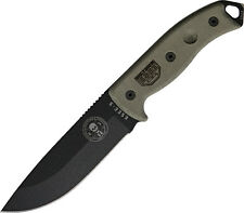 "ESEE Model 5 Knife ES-5P-KO-BK 10 7/8"" overall. 5 1/4"" 1095 high carbon steel bl"