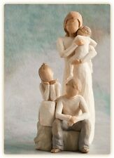 Willow Tree Mother with Three Children  Son Daughter & Baby  NEW in Boxes