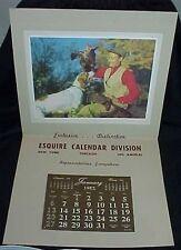 1952 Esquire Calendar Division Salesman Sample Calendar Hunter Dog Fowl