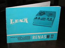 F917_LESA Registratore a nastro RENAS NH 22 libretto istruzioni - s.d.
