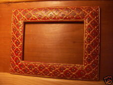 Cadre en bois peint , Inde