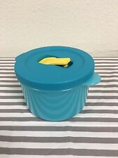 Tupperware Crystalwave Soup Mug Microwave Eggs Lunch Aqua w/ Yellow Spout 2 Cups