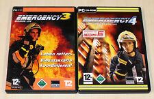 2 PC Jeux Bundle EMERGENCY 3 & 4 Gold-Pompiers Simulator Simulation d'urgence
