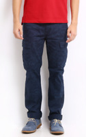 Levis 13469-0019 - Men Blue Printed Slim Straight Cargo Trousers