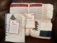 S2 Pottery Barn Kids Heritage Santa Quilt Standard Sham Twin Christmas Sold Out!
