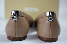 NIB MICHAEL KORS Size 7 Womens Dark Khaki 100% Leather HAMILTON Point Toe Loafer