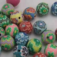 19692 Mixed Color Round Fimo Beads Polymer Clay Beads Finding 10mm 120pcs