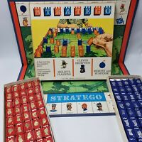 Stratego Replacement Parts 1961 Board Pawns Insert You Pick Blue Major Red Scout