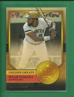 Willie Stargell 2012 Topps Golden Greats Insert Card # GG-99 Pittsburgh Pirates