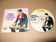 Hawaiian Steel Guitar Classics (1927-1938, 26 tracks cd 1993 Ex Condition Rare