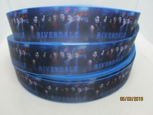 "Riverdale TV Show 7/8"" Grosgrain Ribbon ~YOUR CHOICE: 5 or 10 Yard (TV)"