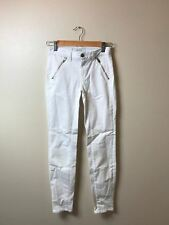 NEW J Brand Designer Skinny Jeans $185 S-25 White with Zipper Pockets J-0051
