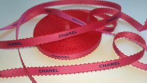 Authentic Chanel pink-blue gift wrap ribbon 12M Rare Limited Edition Spring 2020