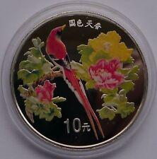 CHINA 10 YUAN 1999 BIRD COLOR