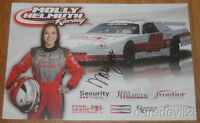 2015 Molly Helmuth signed NASCAR Whelen Late Model postcard