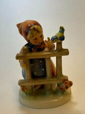 "Signs of Spring 4"" Goebel Hummel ~ Girl & Bird At Fence ~ 1948 #203"