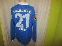 "Karlsruher SC Nike Langarm Matchworn Trikot 2009/10 ""EnBW"" + Nr.21 Krebs Gr.L"