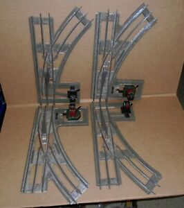 """.. """"Lot of (4) Lionel Standard #210 Manual Switch Track including 2 LH & 2 RH"""