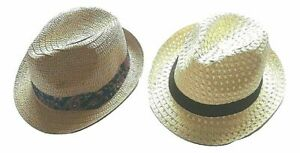 Men's Pro Climate Summer Straw Sun Hat Trilby Style One Size 100% Paper