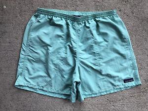 "Patagonia Men's Baggies Shorts 5"" Large Vjosa Green Teal Mint Liner 57021"