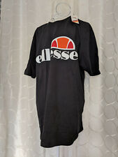 BNWT Ellesse Heritage Prado Tee T-Shirt Black Size XL